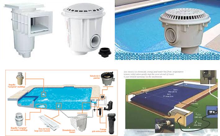 Accesorios para albercas y piscinas for Accesorios para piscinas